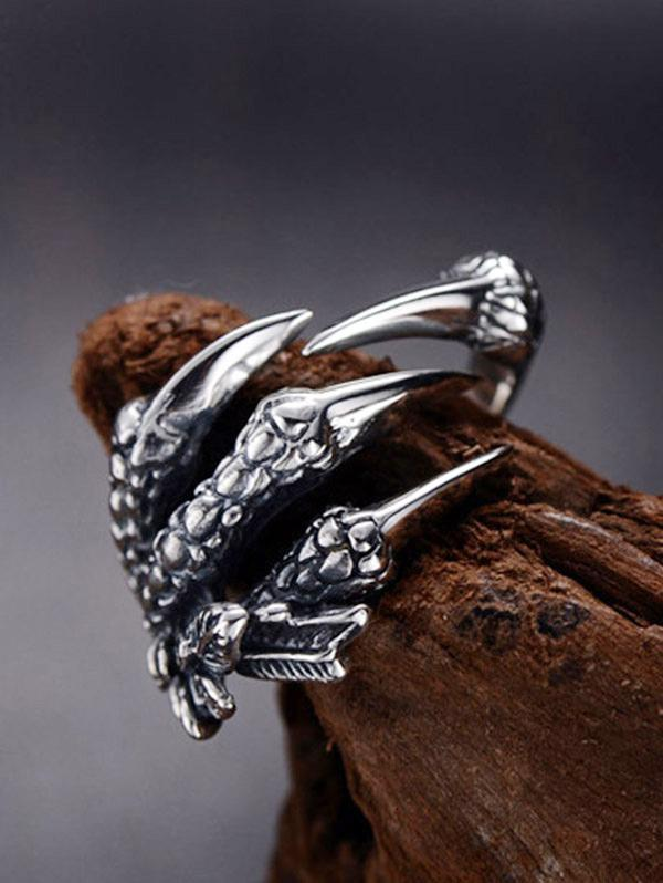 Dragon Claw Stainless Steel Open Ring