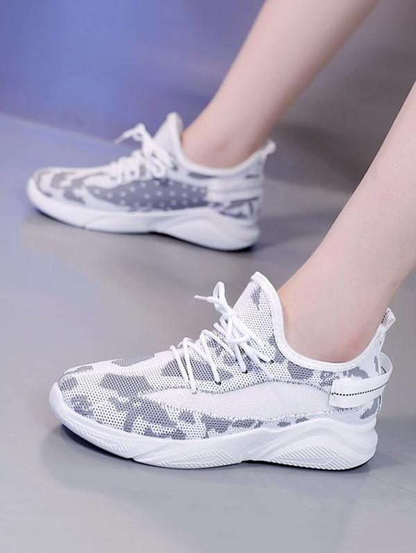 Zaful Mesh Breathable Camo Sneakers