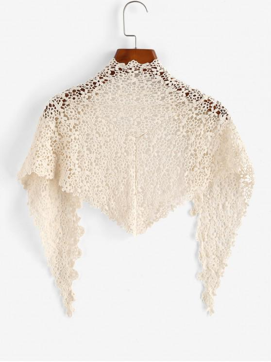shops Crochet Lace Cover Up Shawl - LIGHT COFFEE ONE SIZE