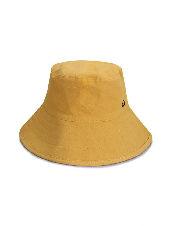 buy Cotton Letter D Bucket Hat - YELLOW