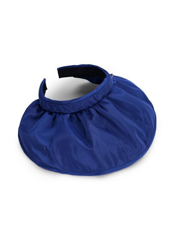 Multi-function Double Use Foldable Wide Brim Visor Hat - الطاووس الأزرق