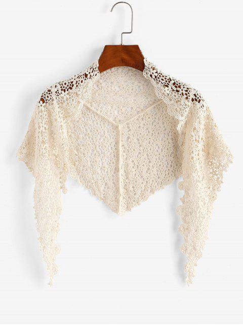 shops Crochet Lace Cover Up Shawl - LIGHT COFFEE ONE SIZE Mobile