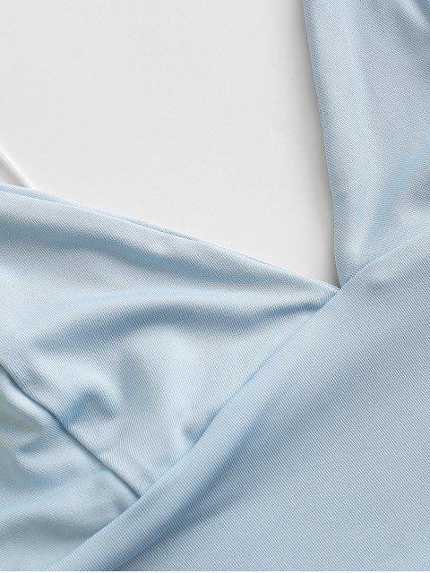 Plain Bralette Top - Hellblau S Mobile