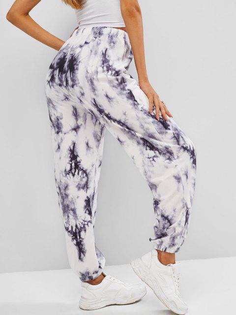 online Tie Dye Drawstring Jogger Pants - GRAY S Mobile