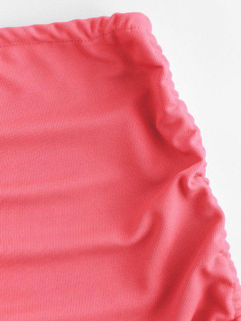 Mini Gonna a Costine - Rosa chiaro Taglia unica Mobile