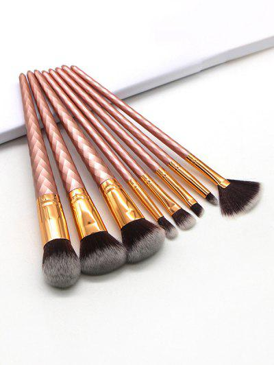 8Pcs Multi-function Makeup Brush Set - Chocolate 8pcs