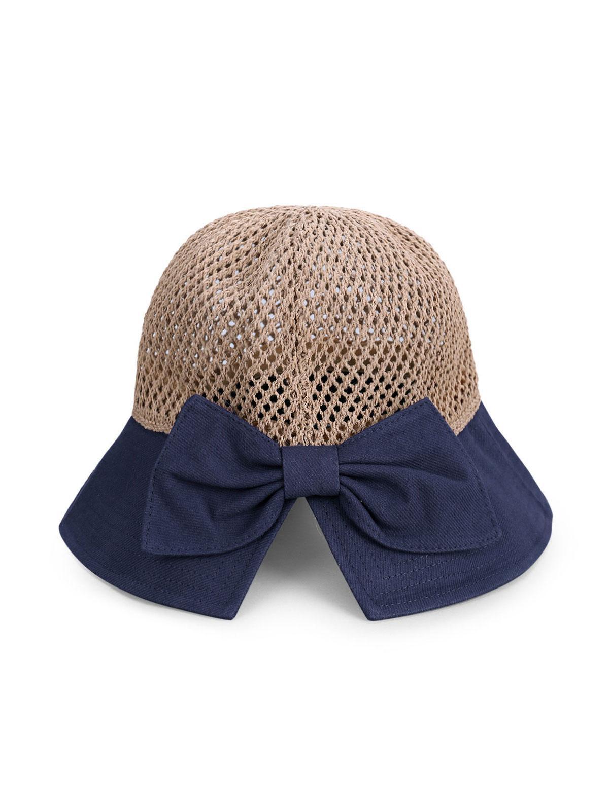 Bowknot Colorblock Bucket Hat