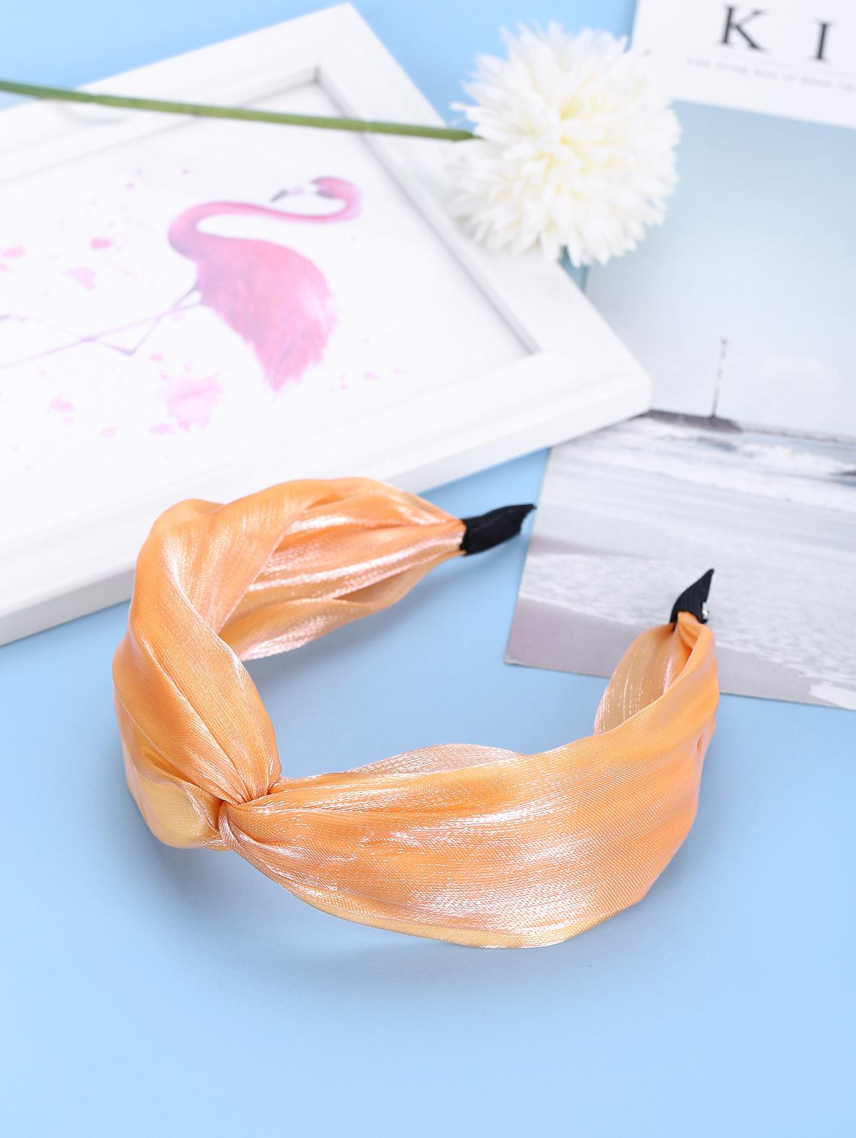 Knot Wide Satin Fabric Hairband