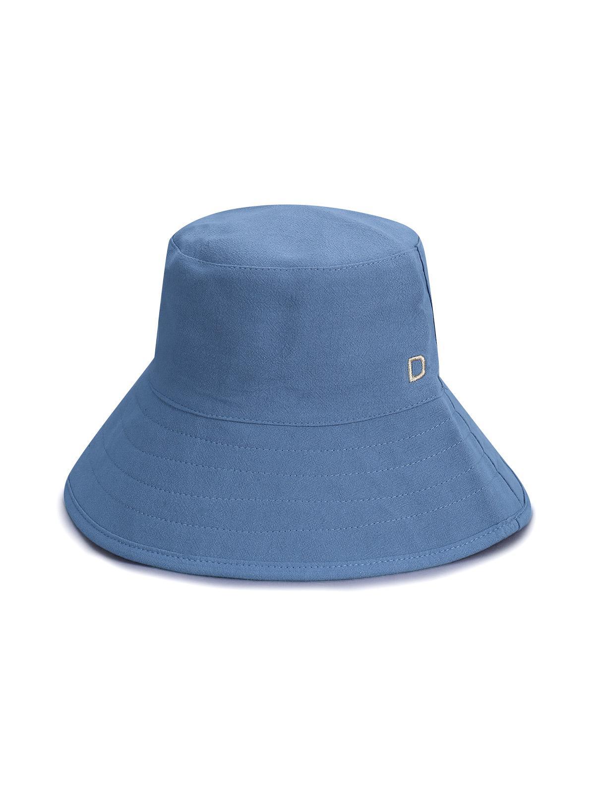 Cotton Letter D Bucket Hat
