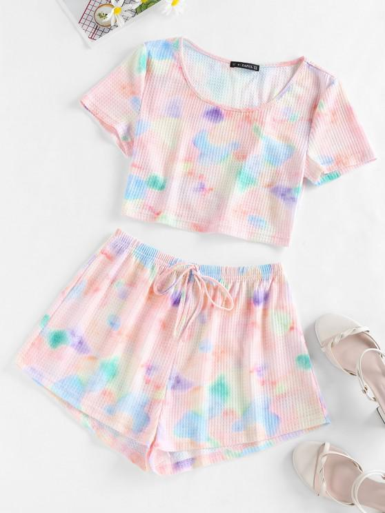 new ZAFUL Tie Dye Top and Shorts Co Ord Set - MULTI M