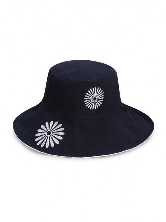 lady Flower Pattern Bucket Hat - BEIGE