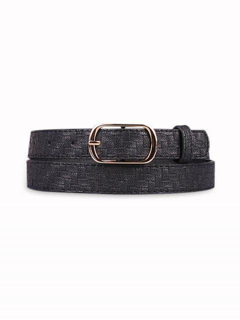 outfits Woven Pattern Pin Buckle Belt - BLACK  Mobile