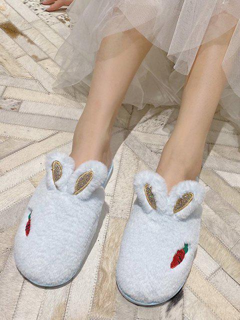 shops Faux Fur Rabbit Ear Slippers - LIGHT AQUAMARINE EU 39 Mobile