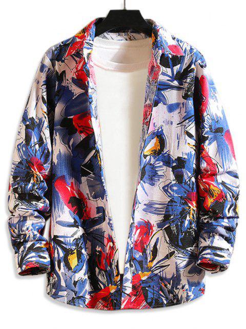 Camisa Floral Manga Raglán - Multicolor-A 2XL Mobile