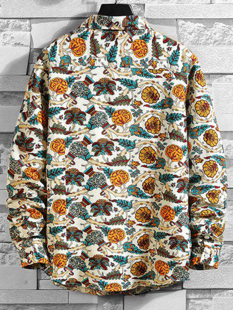 Camisa Estampado Rama Flor - Blanco 2XL Mobile
