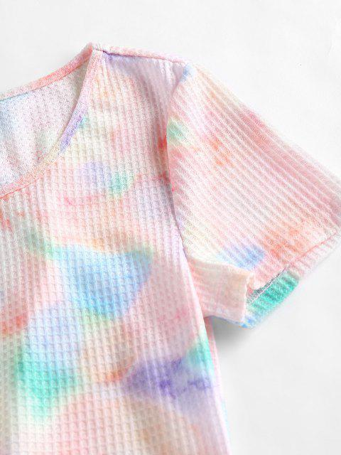 ZAFUL Krawattenfärbende Top und Shorts Co Ord Set - Multi XL Mobile