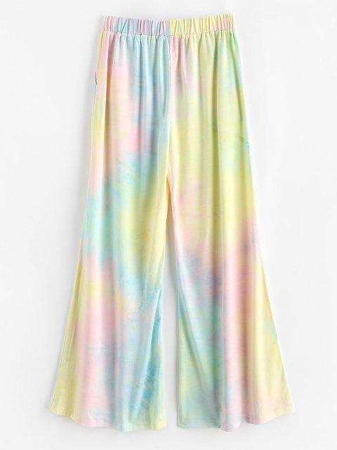 online ZAFUL High Rise Tie Dye Wide Leg Pants - MULTI S Mobile
