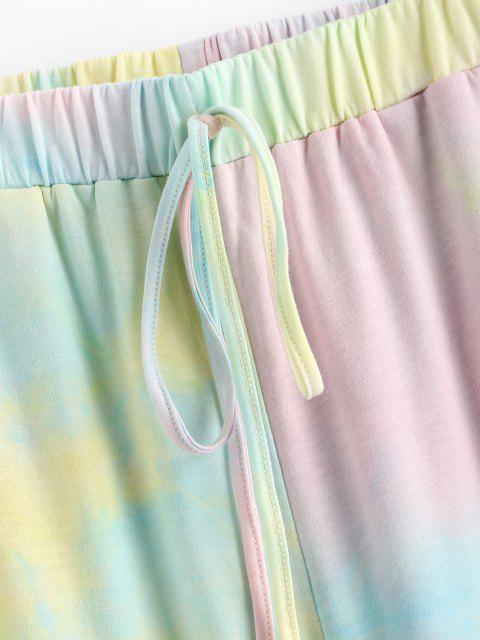 outfits ZAFUL High Rise Tie Dye Wide Leg Pants - MULTI M Mobile