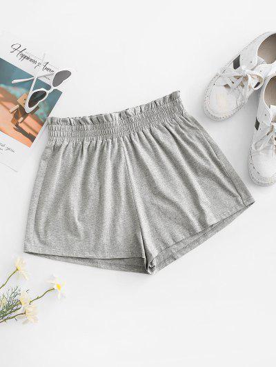 ZAFUL Paperbag Heathered Shorts - Light Gray M