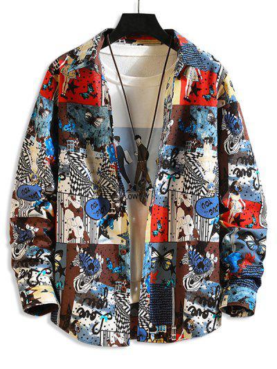 Animal Butterfly Girl Print Shirt - Multi-a M