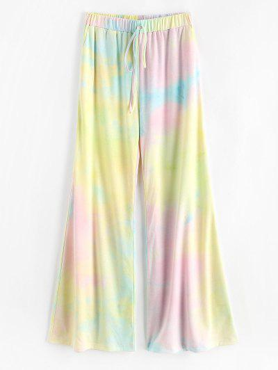 ZAFUL High Rise Tie Dye Wide Leg Pants - Multi S