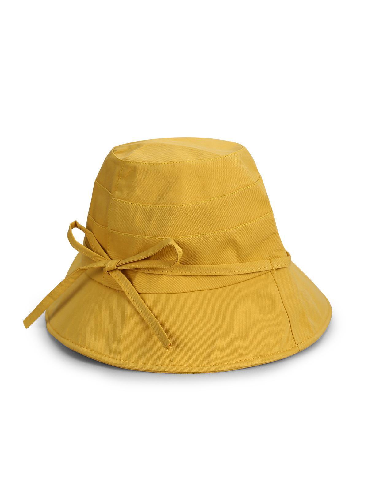 Bowknot Cotton Bucket Hat