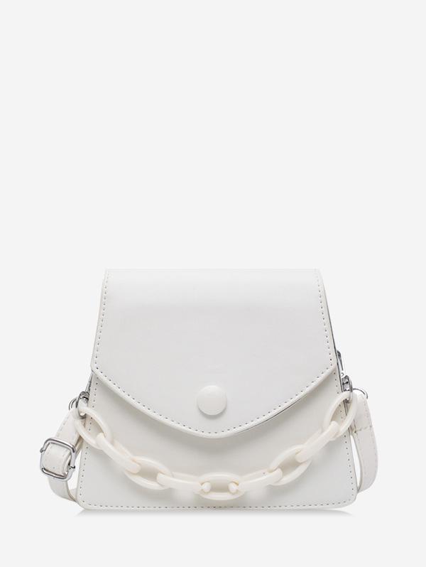 Chain Embellished Mini Flap Crossbody Bag