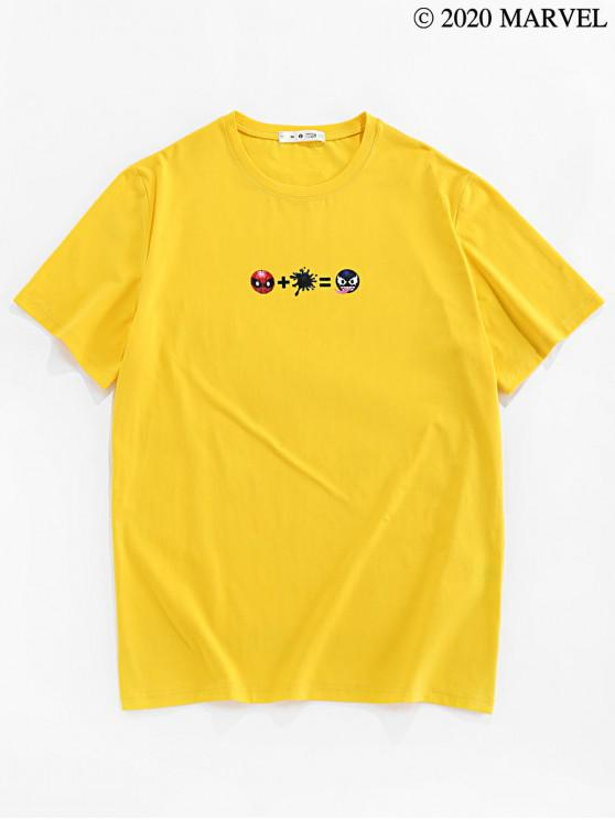 shops Marvel Spider-Man Venom Printed Basic T-shirt - BRIGHT YELLOW S
