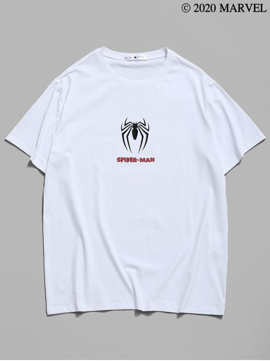affordable Marvel Spider-Man Icon Print Graphic T-shirt - WHITE L