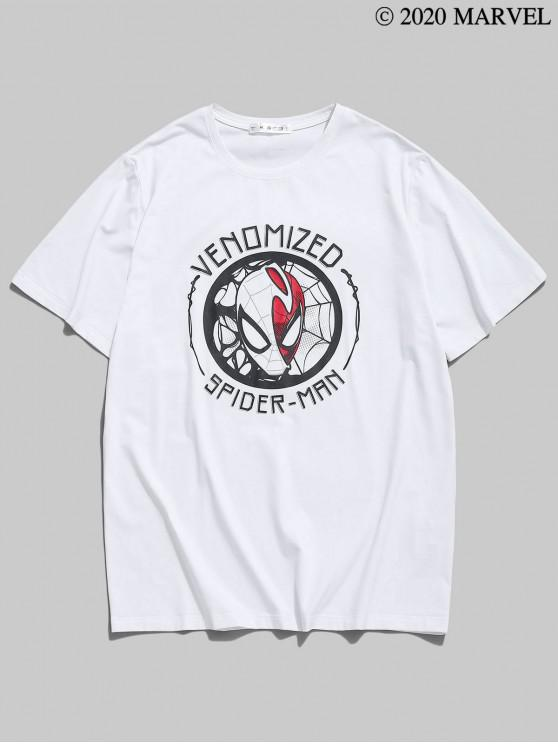latest Marvel Spider-Man Venomized Basic T-shirt - WHITE S