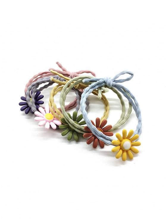 best 5Pcs Daisy Layers Hair Tie Set - MULTI-A
