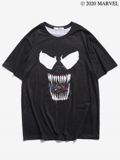 Marvel Spider-Man Venom-Muster Mit Kurzen ÄrmelnT-Shirt - Schwarz 2xl