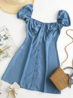 Chambray Milkmaid Bustier Dress - Blue S