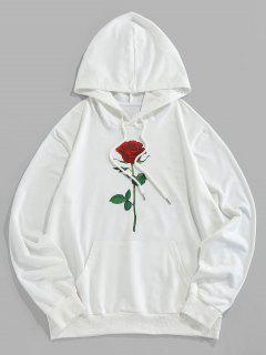 ZAFUL Sweat à Capuche Rose Graphique Avec Poche - Blanc 2xl
