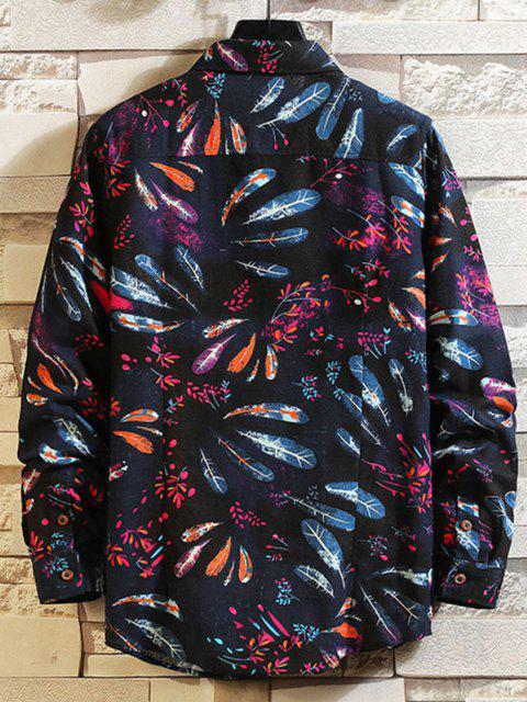 フェザーフローラルプリントシャツ - マルチA M Mobile