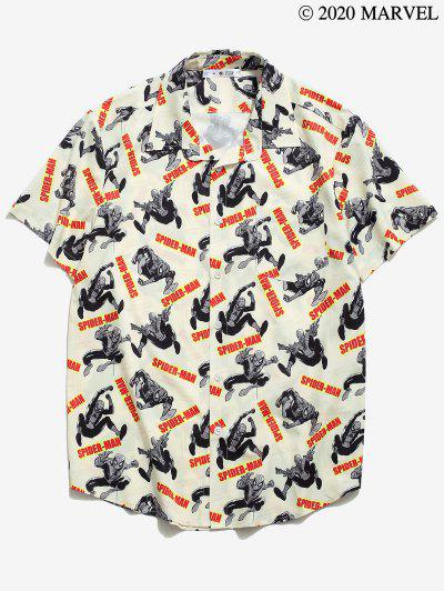 Marvel Spider-Man Graphic Pocket Patch Shirt - Champagne M