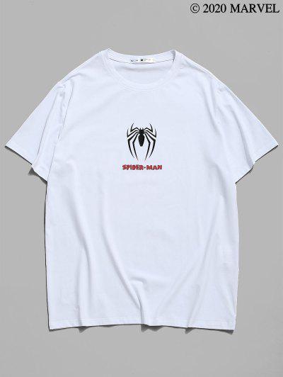 Marvel Spider-Man Icon Print Graphic T-shirt - White M