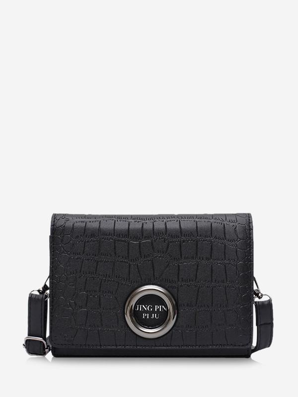 Animal Embossed O-ring Leather Crossbody Bag