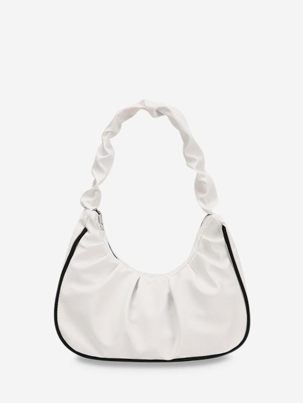 Ruched Nylon Piped Tote Bag