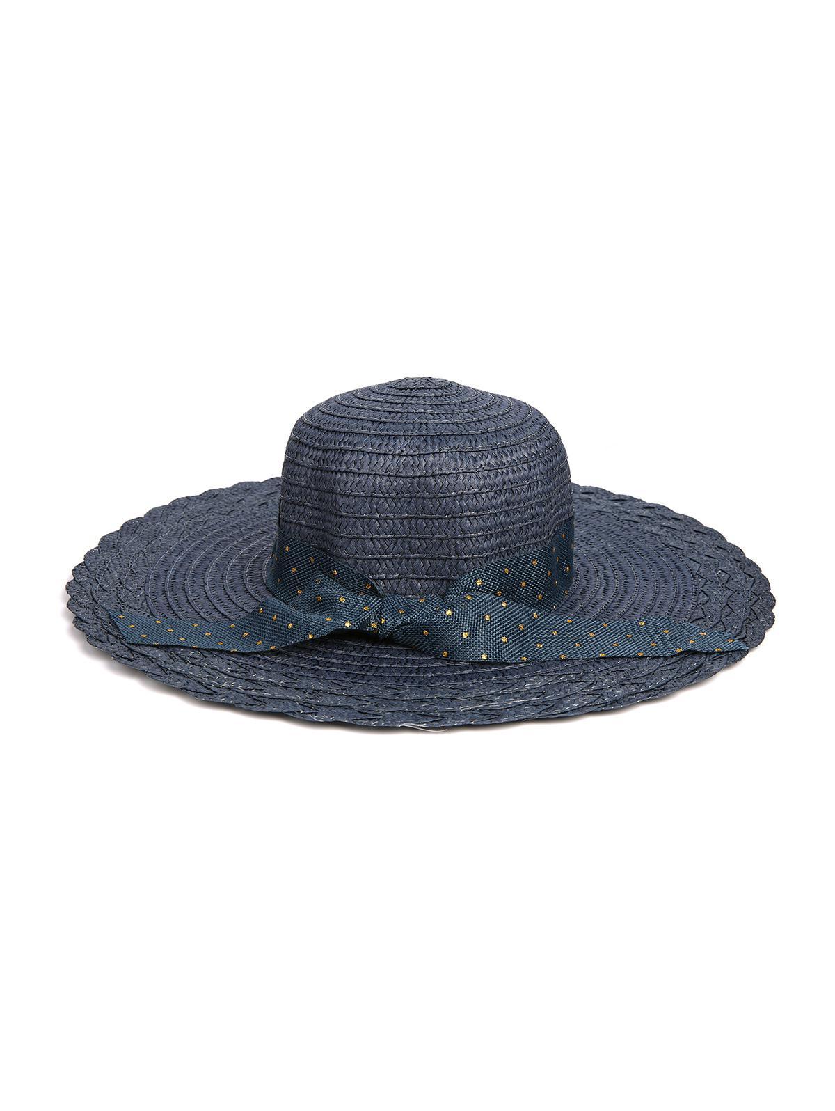 Dots Ribbon Bowknot Straw Hat