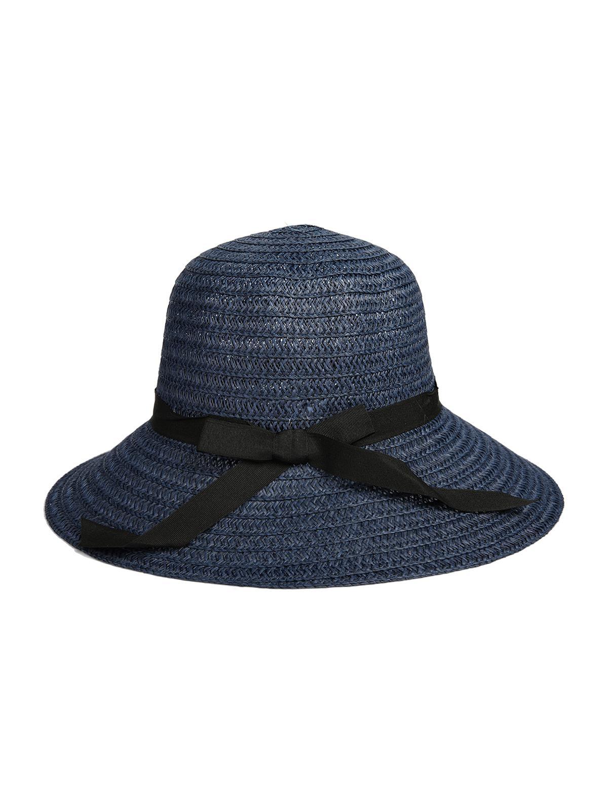 Bowknot Ribbon Straw Hat