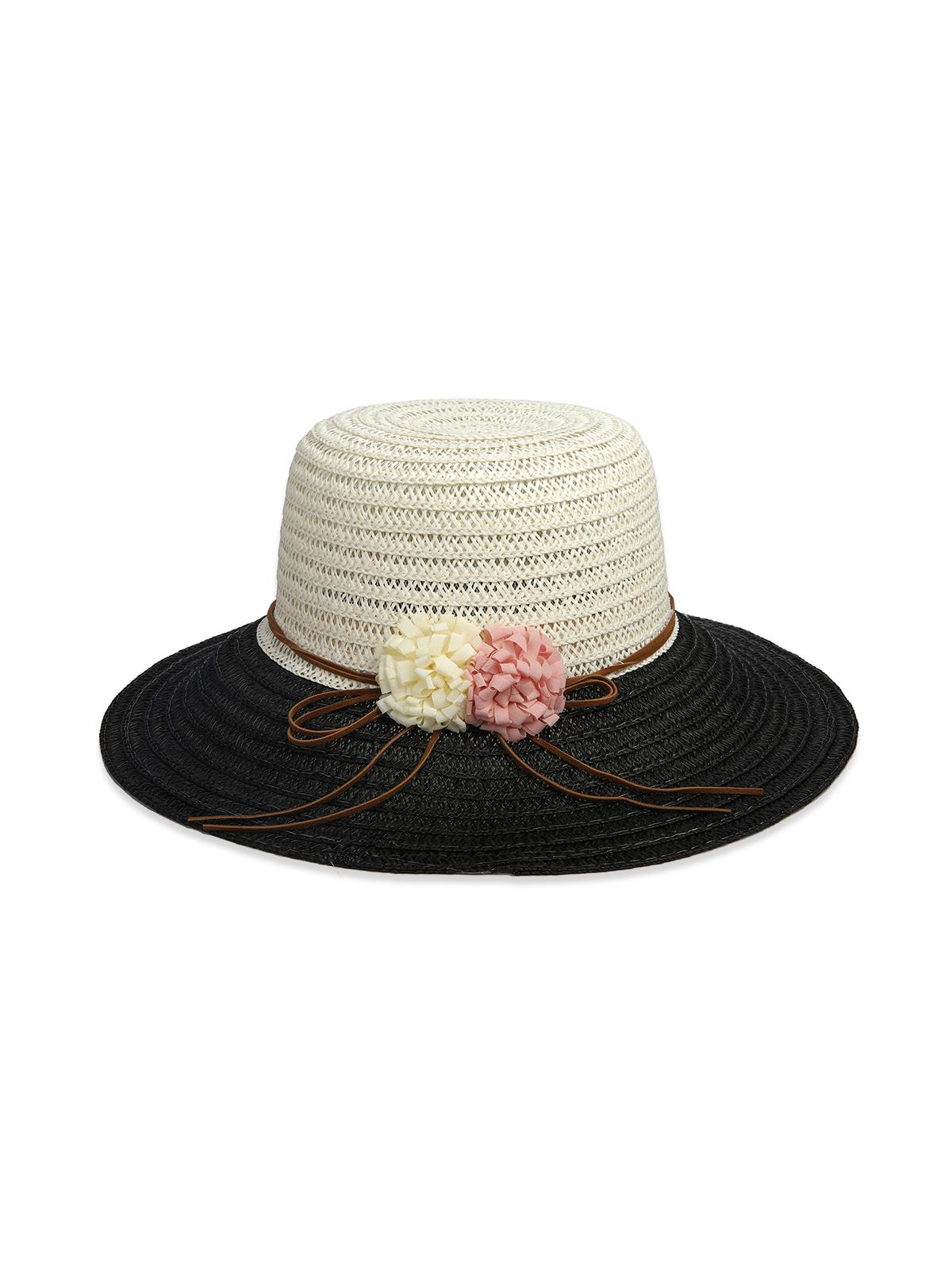 Flowers Colorblock Straw Hat