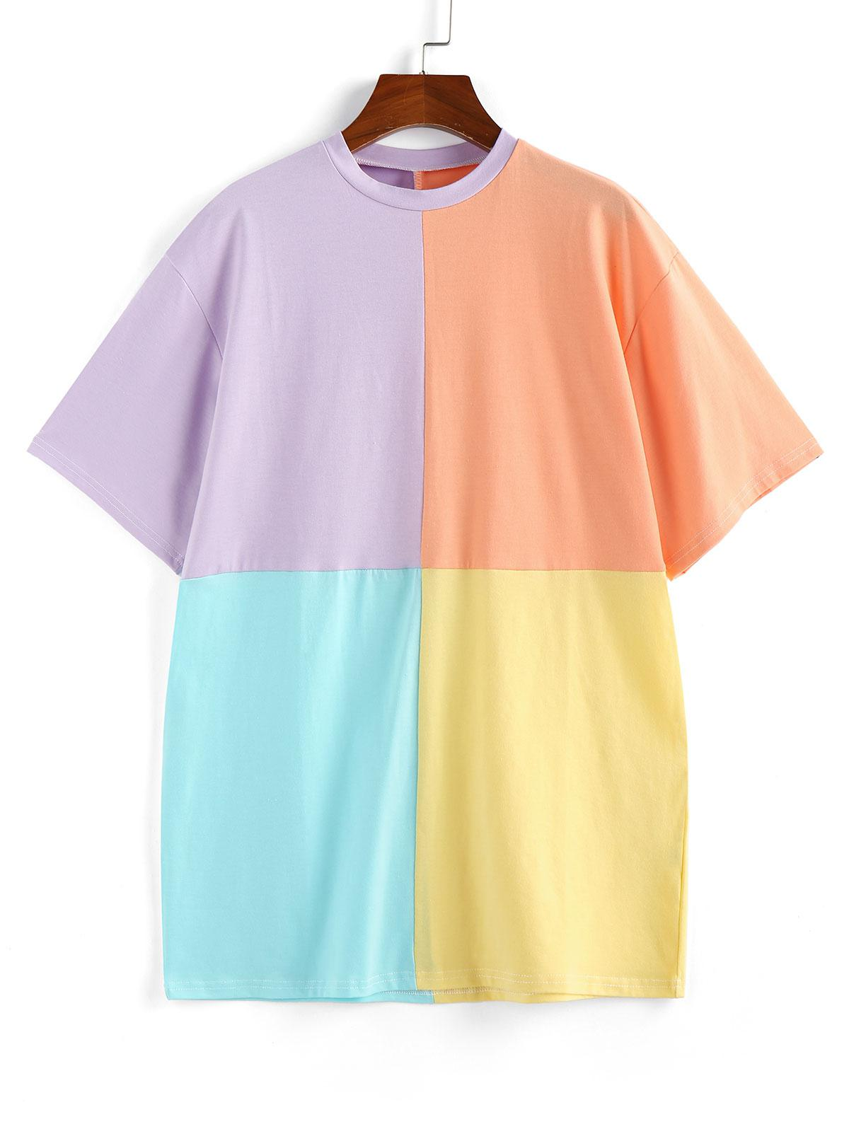 Colorblock T-shirt Dress