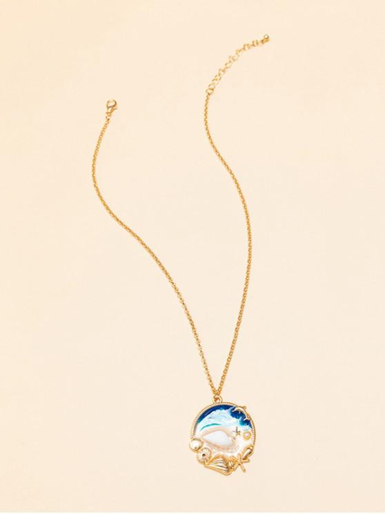 affordable Beach Ocean Shell Epoxy Necklace - MULTI-A
