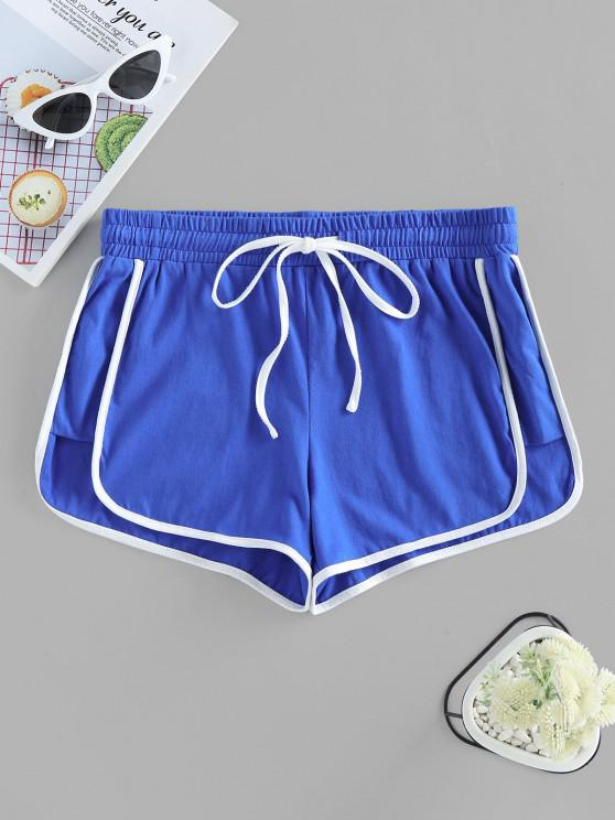 outfits ZAFUL Track Drawstring Dolphin Shorts - BLUE S
