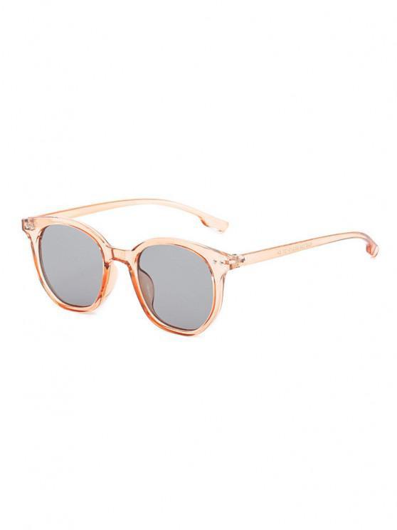 Retro Rivet Round Sunglasses - مشمش