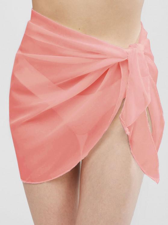 Echarpe Demi-Transparente - Rose clair Taille Unique