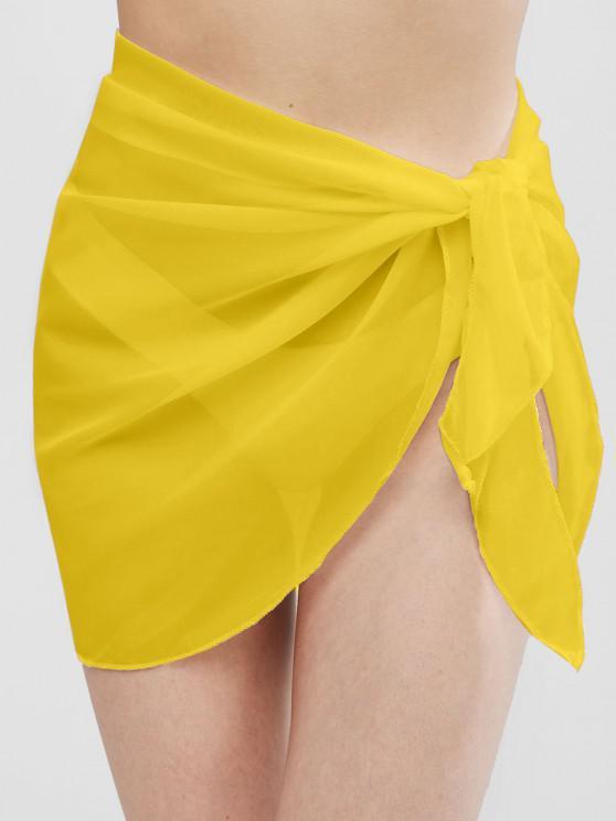 Echarpe Demi-Transparente - Jaune Taille Unique