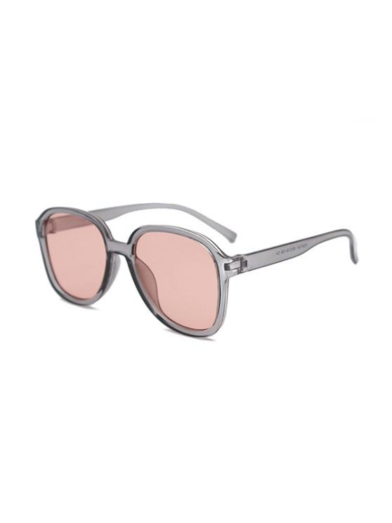 outfit UV Protection Square Sunglasses - GRAY CLOUD