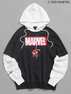 Sudadera Con Capucha De Estampado De Spider-Man - Negro L